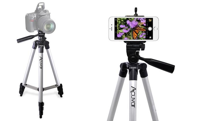 50 Aluminum Camera Tripod and Universal Smartphone Mount