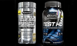 Muscletech Clear Muscle (84-Ct.) and Test HD (90-Ct.) Supplements at Muscletech Clear Muscle (84-Ct.) and Test HD (90-Ct.) Body-Building Supplements, plus 9.0% Cash Back from Ebates.