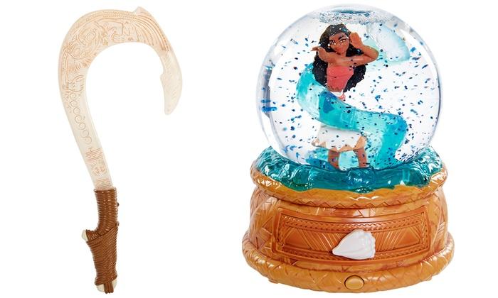 Disney moana musical globe or fish hook groupon for Disney s moana maui s magical fish hook