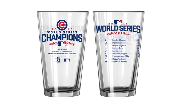 Pre-Order: Chicago Cubs 2016 World Series Champions Pint Glasses (2-Pack): Pre-Order: Chicago Cubs 2016 World Series Champions Pint Glasses (2-Pack)