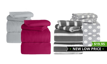 Polar Fleece Sheet Set in Choice of Colours: Single $19.95, King Single $22, Queen $25 or AU King $29
