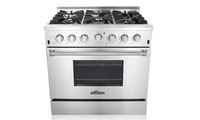 6 burner gas range wolf vulcan v36 commercial with oven kitchen professional stainless steel double