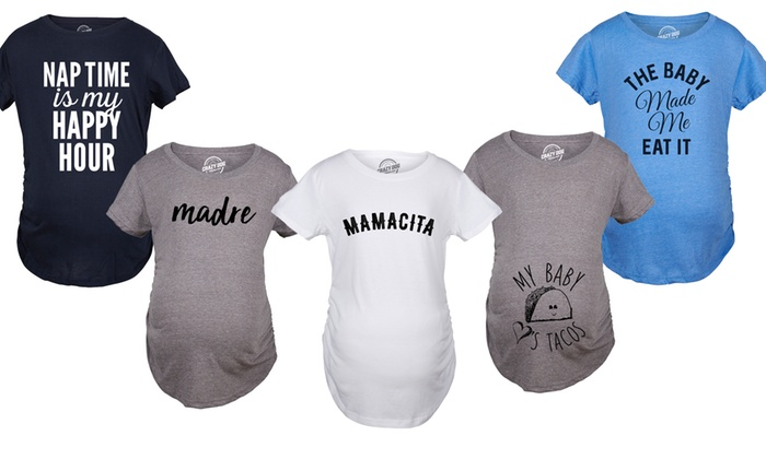 4bed2a1e Women's The Baby Made Me Eat It Humorous Maternity T-shirts. Funny ...