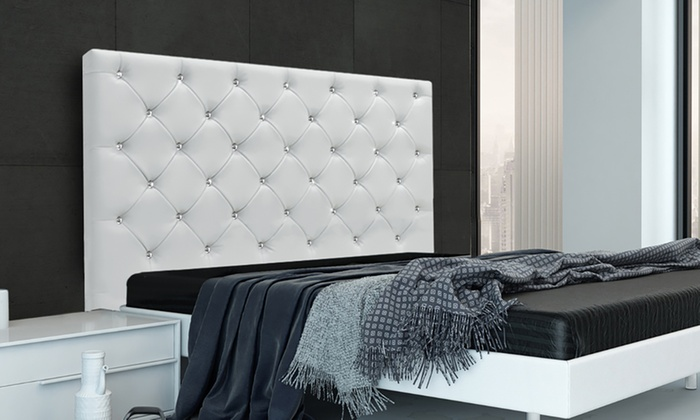 t te de lit luxe strass groupon. Black Bedroom Furniture Sets. Home Design Ideas