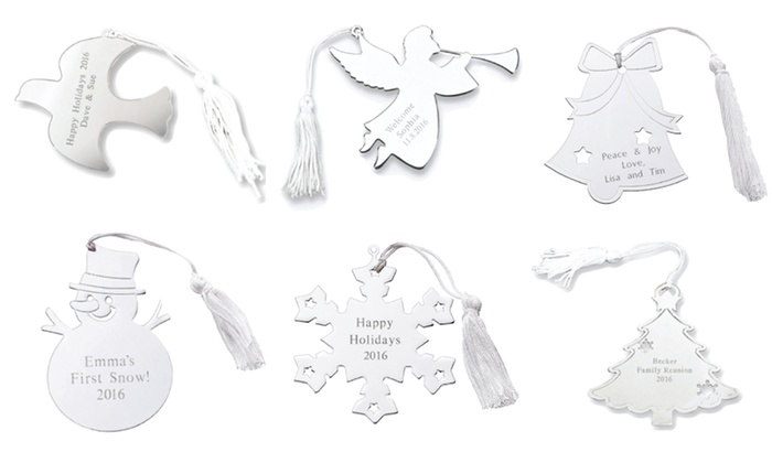ForAllGifts: One or Two Custom-Engraved Nickel-Plated Ornaments with Tassels from ForAllGifts (Up to 49% Off)