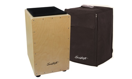 Sawtooth Birch-Wood Cajon with Padded Seat and Carry Bag