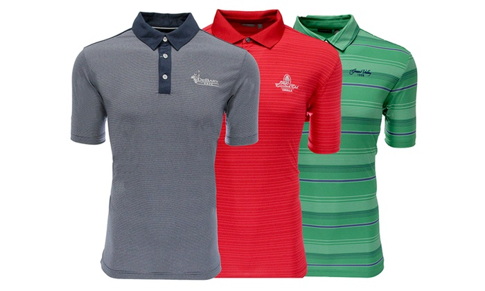 Ashworth Men's Logo Overrun Polo Shirts (2-Pack)