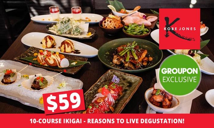 Kobe Jones Sydney - Kobe Jones Sydney: $59 for a 10-Course Ikigai - Reasons to Live Degustation for One Person at Kobe Jones (Up to $110 Value)
