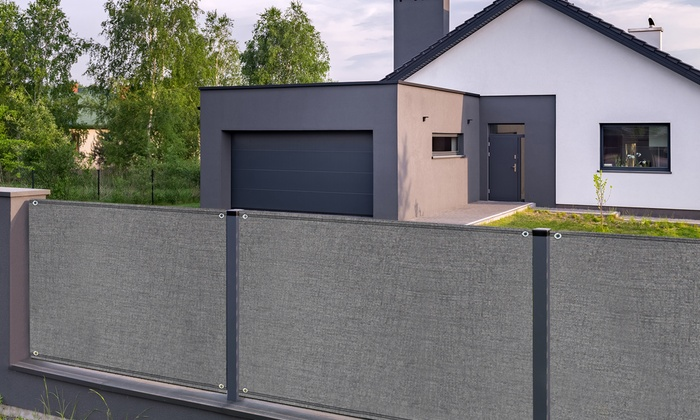 jusqu 39 74 brise vue gris haute densit groupon. Black Bedroom Furniture Sets. Home Design Ideas