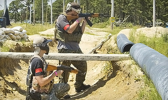 Ultimate Battle Ground - Buzzards Bay: All-Day Airsoft Combat-Simulation Outings With or Without Equipment or Party at Ultimate Battle Ground (Up to 63% Off)