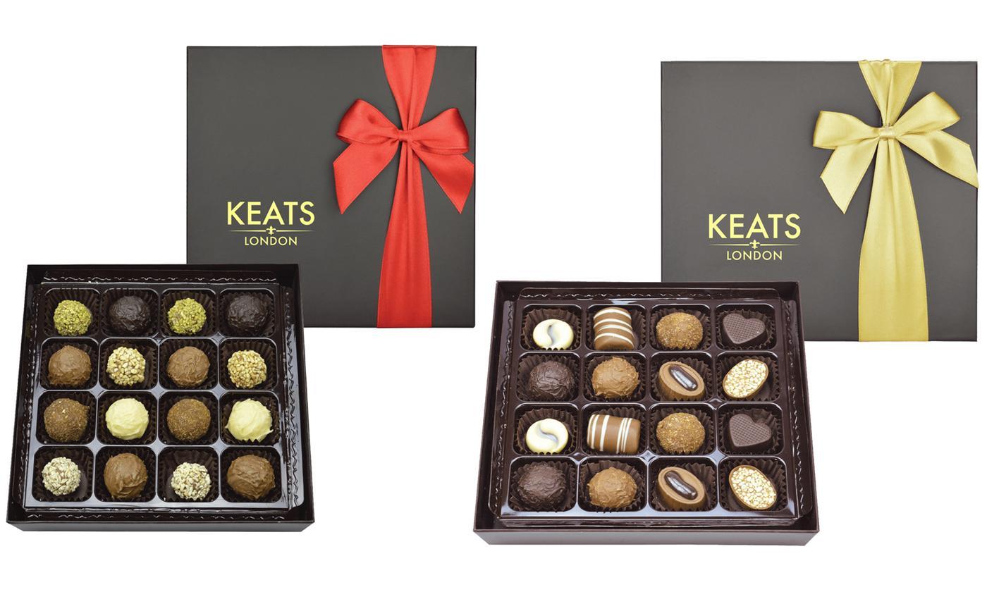 16-Piece Assorted Truffle Chocolates Gift Box