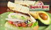 Bagels & Brew - Multiple Locations: $6 for $12 Worth of Sandwiches and More at Bagels & Brew