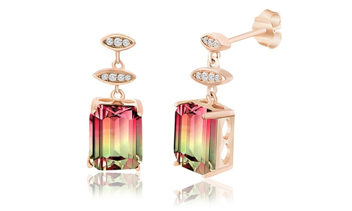 image co earrings m cuprian tiffany estate jewelry s antiques tourmaline rau