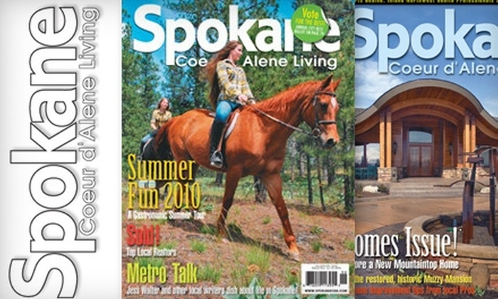 """Spokane Coeur d'Alene Living"" Magazine - Spokane / Coeur d'Alene: $8 for a One-Year Subscription to ""Spokane Coeur d'Alene Living"" Magazine ($16 Value)"
