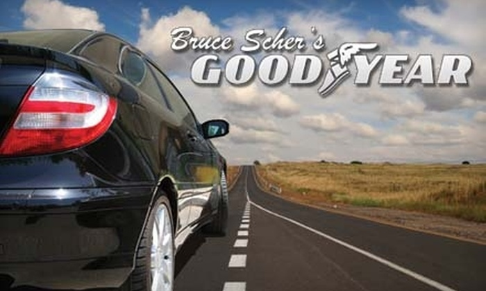 Bruce Scher's Goodyear - Multiple Locations: $14 for an Oil and Filter Change at Bruce Scher's Goodyear ($27.88 Value)