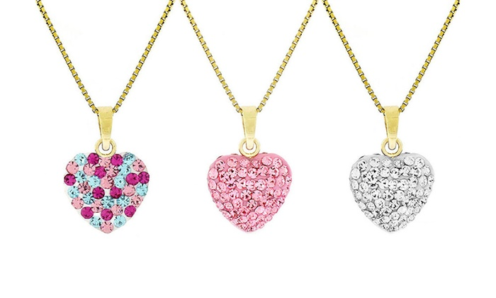 Up to 84 off on childs heart pendants in gold groupon goods childs heart pendants in 14k yellow gold childs heart pendants in 14k yellow aloadofball Gallery
