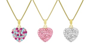 Child's Heart Pendants in Gold Plated Silver