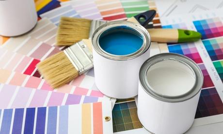 2 capas de pintura plástica en paredes y techos para 50, 75, 100 o 150 m² con Be Happy Service Group