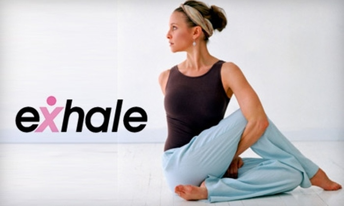 Exhale Studios at Elite Sports Clubs - Multiple Locations: $49 for One Month of Unlimited Yoga and Pilates Classes at Exhale Studios