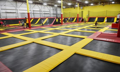 image for 60- or 120-Minute Jump Pass or Rookie Birthday-Party Package at Aerosports Trampoline Park (Up to 21% Off)