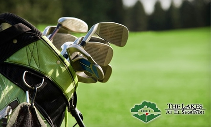 The Lakes at El Segundo Golf Course - El Segundo: $19 for Nine Holes of Golf, a Pull Cart, and a $35 Range Card at The Lakes at El Segundo Golf Course (Up to $51 Value)