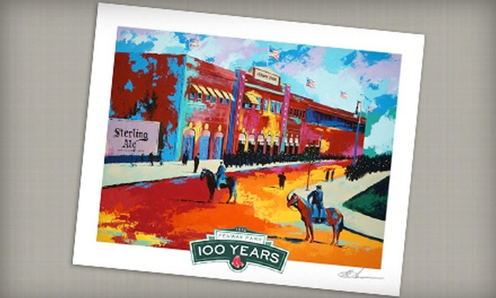 Lionword Illustrations: $45 for Fenway Park 1912 Anniversary Lithograph and Shipping from Lionword Illustrations ($95 Value)