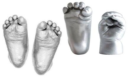 a66be21b9f1be 1 ou 2 kits de moulage 3D pour empreintes de mains et pieds de bébé