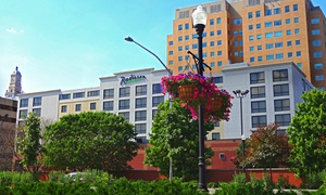 Quad Cities Radisson with River Views and Optional Breakfast  at Radisson Quad City Plaza, plus 6.0% Cash Back from Ebates.