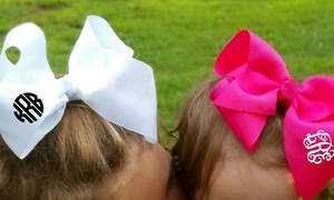 Kabolillie: One or Two Monogrammed Hair Bows from Kabolillie (Up to 56% Off)