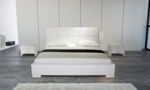 Odea storage bed frame mattress groupon for Beds groupon