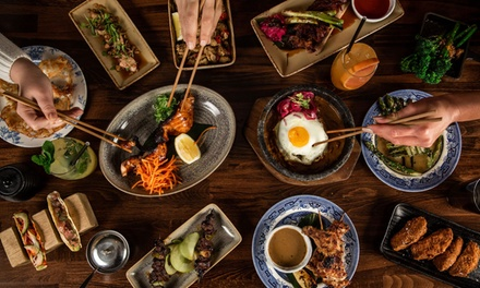 NineDish Japanese Feast with Sake for Two $39 or Four People $77 at Mibaya Up to $241.40 Value