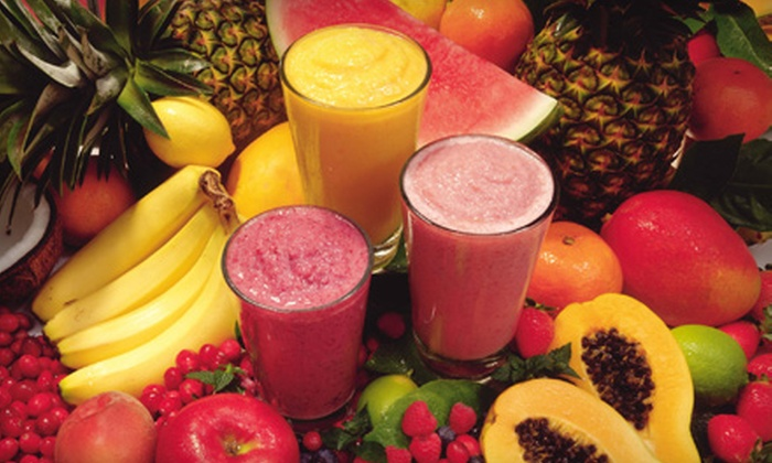 Pure Cafe - Wexford: $7 for a Punch Card for Three Simple, Tropical, or Low-Cal Smoothies at Pure Cafe in Wexford (Up to $14.45 Value)
