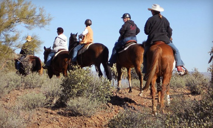 Cowgirls & Company - Tucson: 2.5-Hour Horseback Trail Ride for One or Two at Cowgirls & Company (61% Off)