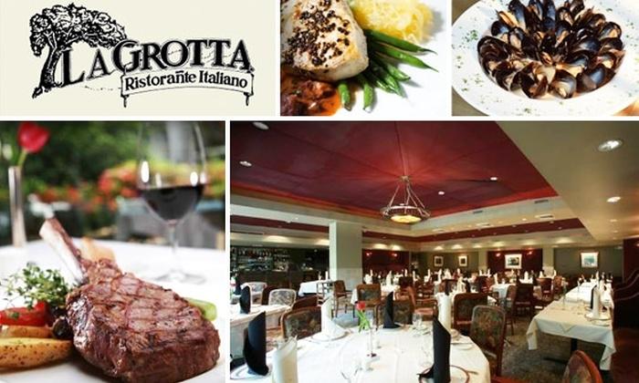 La Grotta Ristorañte Italiano - Peachtree Heights East: $25 for $50 Worth of Italian Cuisine and Drinks at La Grotta Ristorante Italiano in Buckhead