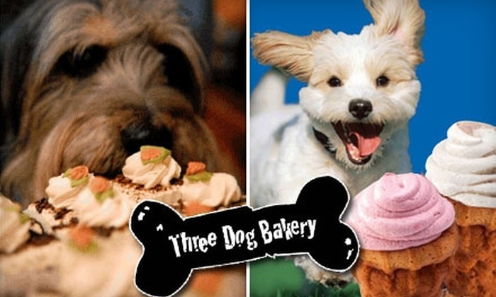 Three Dog Bakery - Multiple Locations: $10 for $25 Worth of All-Natural, Fresh-Baked Eats and Treats for Your Pooch at Three Dog Bakery