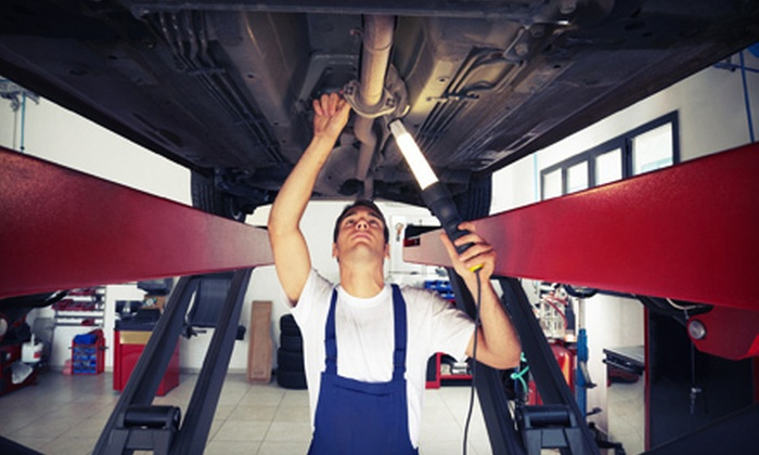 Five Pearls Auto & Body Shop - The Elms: One or Three Standard Oil Changes, Inspections, and Tire Rotations at Five Pearls Auto & Body Shop (Up to 84% Off)