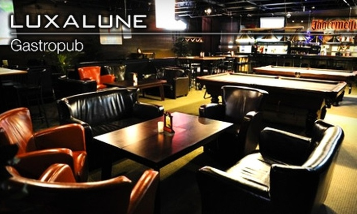 Luxalune Gastropub - Riverview: $10 for $20 Worth of Tapas at Luxalune Gastropub