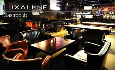 $20 Groupon to Luxalune Gastropub - Luxalune Gastropub in Winnipeg