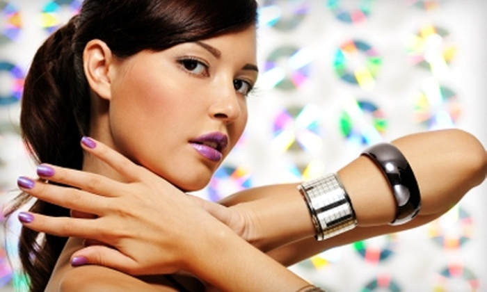 Hollywood Secrets Salon - Hancock: $25 for Mani-Pedi or Set of Acrylic Nails (Up to $50 Value), or $35 for Basic Cut and Color ($80 Value) at Hollywood Secrets Salon