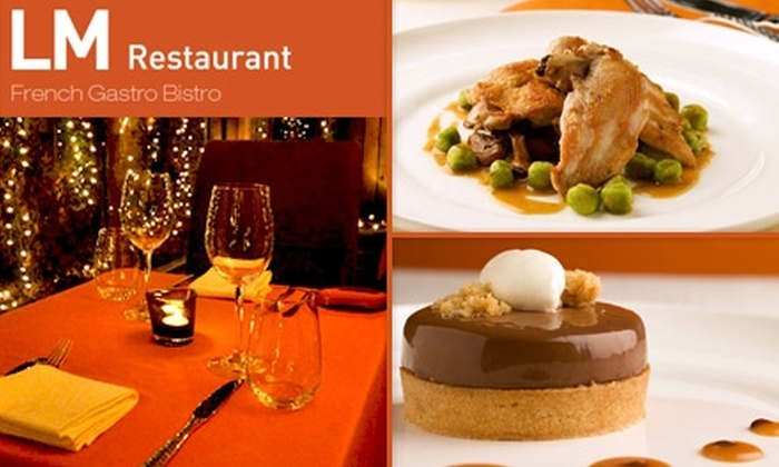 LM Restaurant French Gastro Bistro - Ravenswood: $25 for $55 Worth of French Bistro Dining and Drinks at LM Restaurant French Gastro Bistro