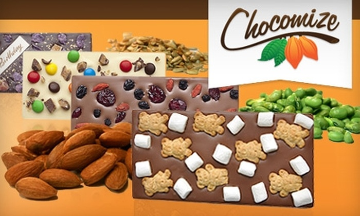 Chocomize: $10 for $20 Worth of Build-Your-Own Chocolate Bars Online from Chocomize