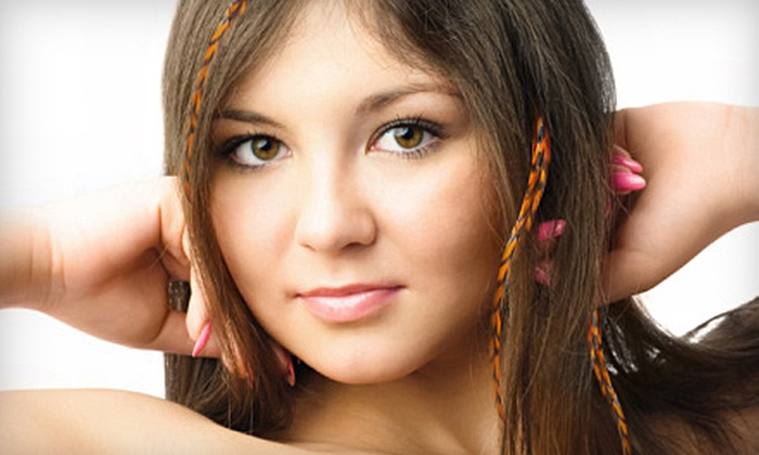 Changing Faces Salon - Natick: Cut or Feather Extensions at Changing Faces Salon in Natick. Three Options Available.