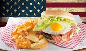 American Street Food: Hamburger da 220 grammi a scelta con super antipasto, birra o bibita e dolce da American Street Food (sconto fino a 62%)
