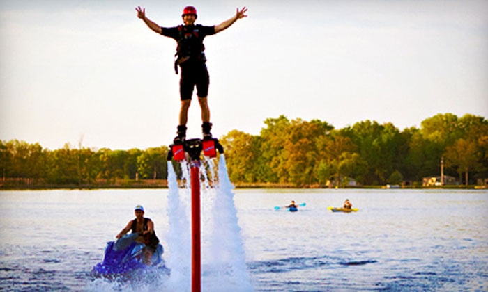 Extreme Aqua Sports - Ann Arbor: 30-Minute Flyboarding Session for One or Two from Extreme Aqua Sports (49% Off)