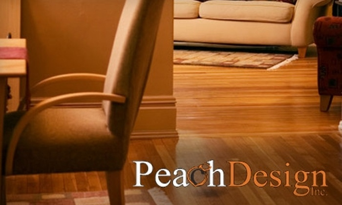Peach Design, Inc. - Atlanta: Hardwood Floor Cleaning and Refinishing or Installation from Peach Design, Inc. Choose from Two Options. (Up to an $877 Value)