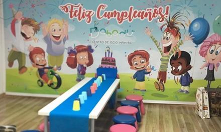 Fiesta de cumpleaños para 10 o 15 niños con menú en Dabadú Centro de Ocio Infantil (hasta 43% de descuento)