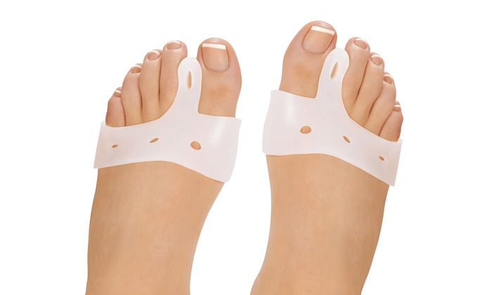 set of two silicone gel toe separator pads for bunions set of two