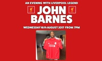 An Evening with John Barnes, 16 August at Lashings Sports Bar & Restaurant (Up to 34% Off)