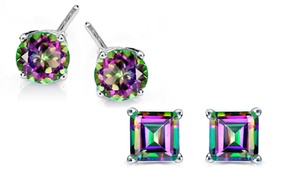 2.00 CTTW Genuine Mystic Topaz Earrings in Sterling Silver (1...