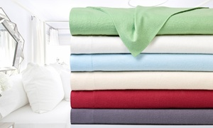 Bibb Home Solid Cotton Flannel Sheet Set (3- or 4-Piece)